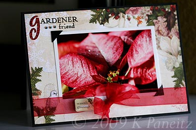December Gardening by Letter card