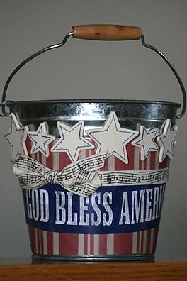 4th of July Bucket
