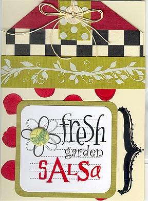 Fresh garden salsa tag